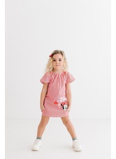 Minnie Mouse Lisanslı Bebek Elbise 17463 Kırmızı